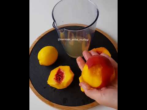 Şeftali Aromalı Limonata Tarifi